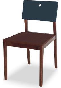Cadeira Flip Cor Cacau Com Encosto Marinho