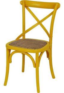 Cadeira De Jantar Katrina Madeira - Amarela