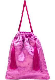 Attico Clutch Com Cordão De Ajuste - Pink & Purple