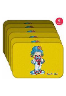 Jogo Americano Patatá Com Gravata - Produto Licenciado Kit Com 6 Pçs