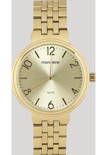 Relógio Analógico Mondaine Feminino - 99068Lpmvde1 Dourado - Único