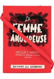 Olympia Le-Tan Clutch Livro 'La Femme Amoureuse' - Vermelho