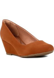 Sapato Anabela Feminino Caramelo