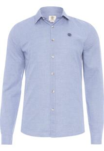 Camisa Masculina Modern Stripe - Azul