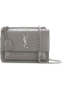 Saint Laurent Bolsa Tiracolo 'Sunset' - Cinza