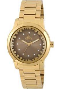 Relógio Allora Feminino - Feminino-Dourado