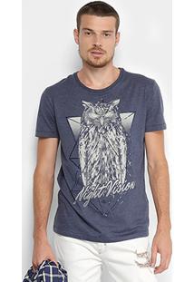 Camiseta Triton Night Vision Masculina - Masculino-Azul