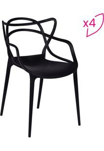 Jogo De Cadeiras De Jantar Solna- Preto- 4Pã§S- Oor Design
