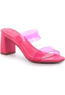 Sandália Damannu Shoes Ivy Vinil Feminina - Feminino-Rosa