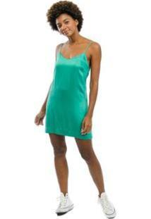 Vestido Curto Costa Nua Feminino - Feminino-Verde