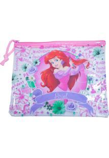 Necessaire Minas De Presentes Princesa Ariel Branca