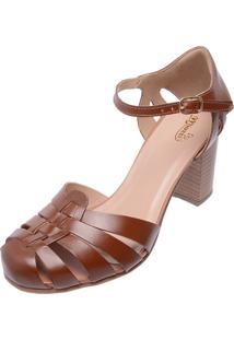 7e9948815 Sapato Conforto Marrom feminino