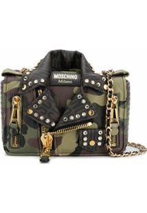 Moschino Biker Crossbody Bag - Verde