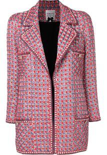 Edward Achour Paris Jaqueta De Tweed - Vermelho