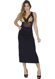 Camisola Click Chique Regata Longa Com Renda - Feminino
