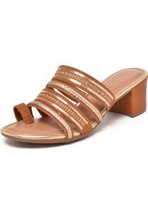 Sandália Dakota Paetês Caramelo