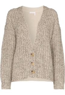 See By Chloé Two-Tone Knitted Cardigan - Marrom