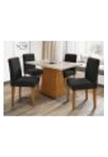 Mesa Jasmin 120 Cm Ype Off White 04 Cadeiras Ana Ype Vl07 New Ceval