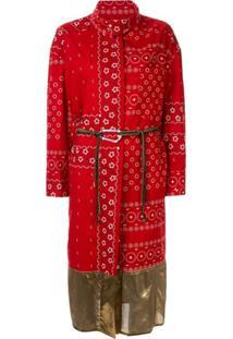 Kolor Vestido Envelope Com Estampa - Vermelho