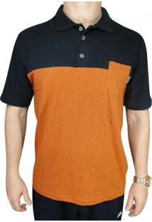 Camisa Polo Code Skt - Masculino-Laranja+Preto