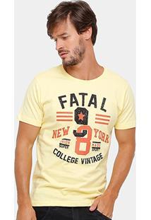 Camiseta Fatal College Vintage Masculina - Masculino