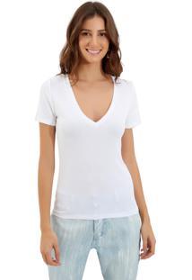 Blusa Le Lis Blanc Clarice Ii Malha Branco Feminina (Branco, Gg)