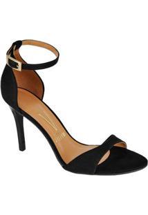 Sandalia Salto Fino Basico Preta Vizzano 60491011