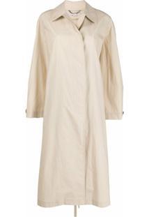 Stella Mccartney Trench Coat Com Abotoamento Simples - Neutro