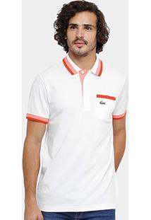 Camisa Polo Lacoste Bolso Botão Masculina - Masculino