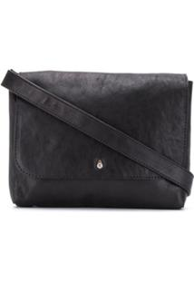 Ann Demeulemeester Burnished Shoulder Bag - Preto