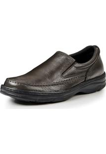 Sapato Confort Pizaflex Masculino - Masculino-Café
