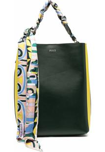 Emilio Pucci Scarf-Detail Tote Bag - Verde