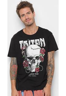 Camiseta Triton Darkside Tour Masculina - Masculino-Preto