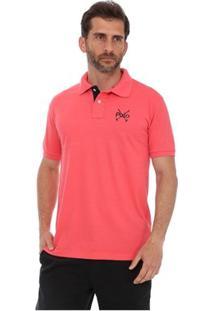 Camisa Polo England Polo Club Casual Taco - Masculino-Coral