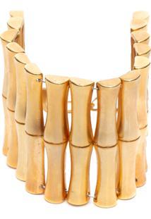 Pulseira Feminina Bambu - Dourado