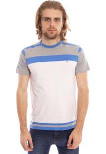 Camiseta Listrada Full Aleatory Masculina - Masculino-Branco