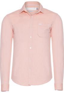 Camisa Masculina Oxford - Laranja