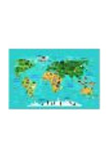 Painel Adesivo De Parede - Mapa Mundi - Mundo - Infantil - 1826Pnm