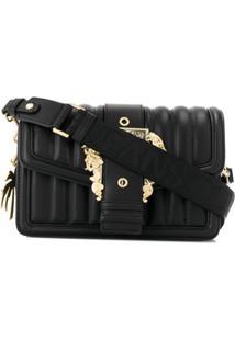 Versace Jeans Couture Bolsa Tiracolo Matelassê Com Fivela - Preto