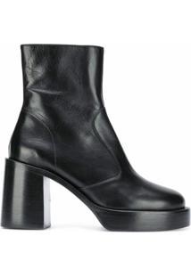 Simon Miller Ankle Boot Com Plataforma - Preto