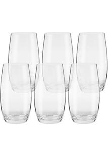 Conjunto De Copos Oxford Crystal Classic 5160 Com 06 Copos Long Drink 500 Ml Em Cristal - Ym345060