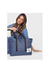 Bolsa Sacola Calvin Klein Tag Azul