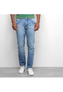 Calça Jeans Forum Paul Slim Masculina - Masculino-Azul
