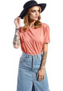 Camiseta Cia Gota Full Garden Feminina - Feminino-Coral