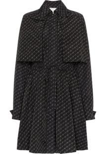 Stella Mccartney Trench Coat Monogramado Com Cinto - Preto