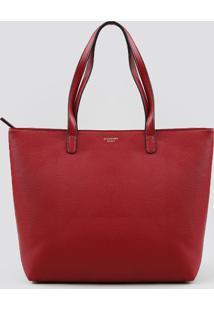 Bolsa Shopper Feminina Com Alça Fixa Vermelha - Único