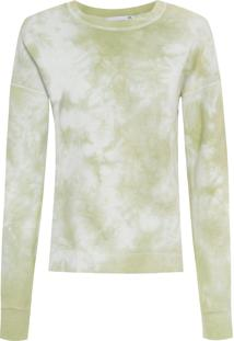 Blusa Feminina De Moletom Fechado Tie Dye - Verde