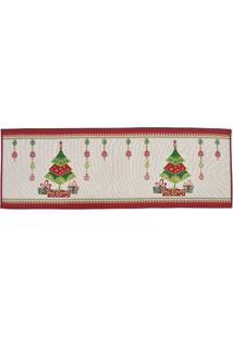 Tapete Arvore De Natal- Branco & Verde- 137X48Cmmabruk
