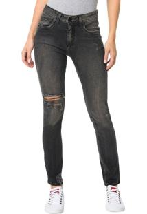 Calça Calvin Klein Jeans 5 Pockets Sp High Preto - 34