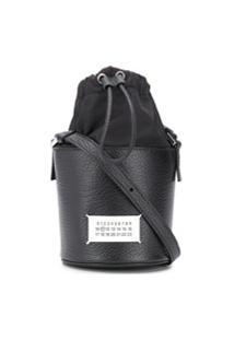 Maison Margiela Number Logo Bucket Bag - Preto